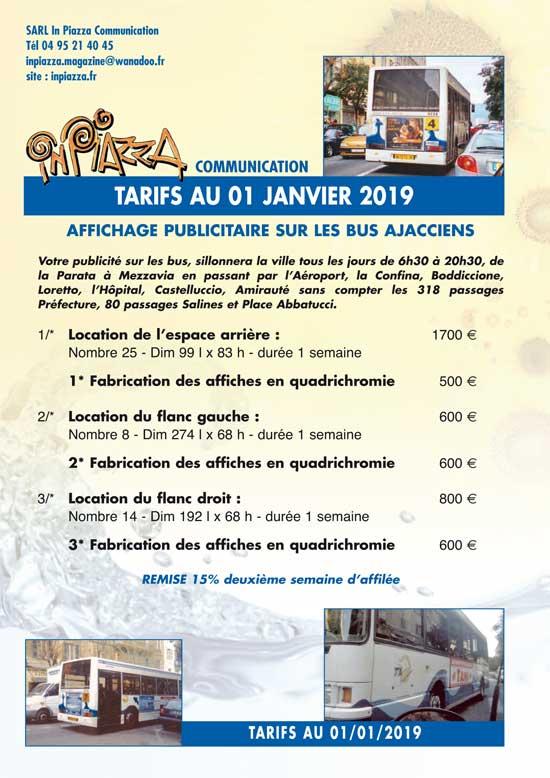 Tarifs 2018 affichage bus Inpiazza