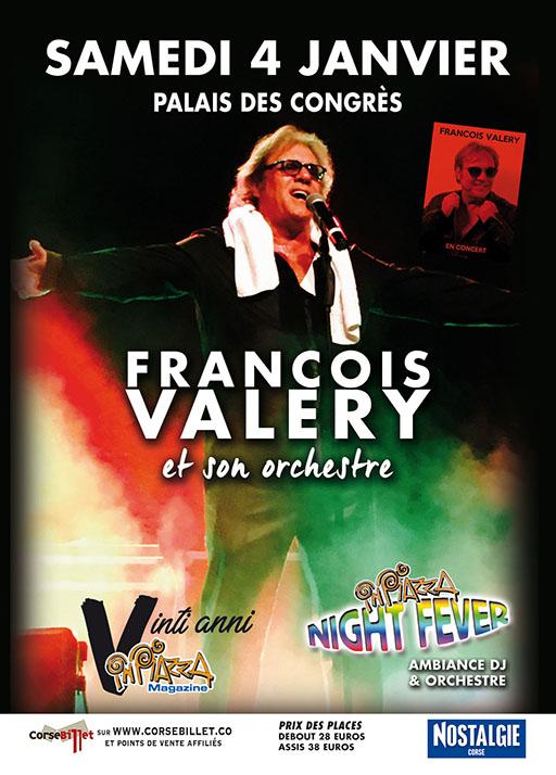 Concert 20 ans In Piazza François Valery et son orchestre le samedi 4 janvier 2020 au palais des congrès d'Ajaccio.