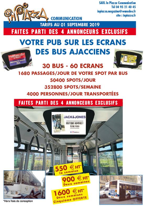 Tarif pub bus Ajacciens Inpiazza 2019